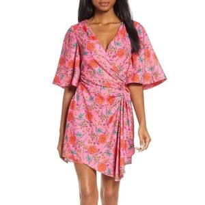 Finders Keepers Hana Floral Side Ruched Minidress